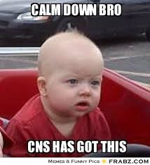 calm down bro... - Dumbfounded Baby Meme Generator Captionator via Relatably.com