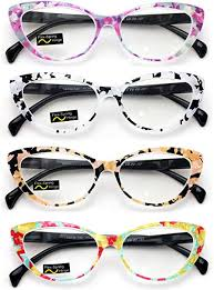 4 Pairs Lot Women Cateye Mosaic Pattern Fashion ... - Amazon.com