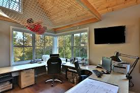 home desk ideas home office transitional with beige wall wood desk rolling desk chair natural lighting home office