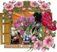 """Résultat de recherche d'images pour """"gifs bonjour fleuri"""""""