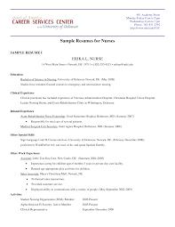 sample resume for new graduate nurse  seangarrette cosample