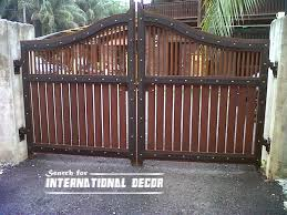 front wall iron gates design choice of gate designs for private house and garage wooden design mode