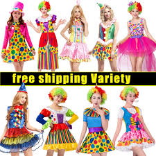 Free shipping Halloween Holiday <b>Cosplay</b> Dress Up <b>Clown Suit</b> ...