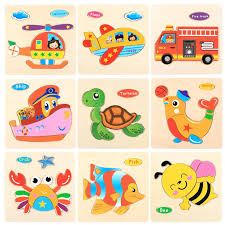 Wooden 3D Puzzle Jigsaw <b>Toys</b> For <b>Children Cartoon Animal</b> ...
