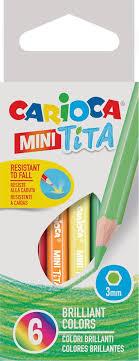 Набор <b>цветных карандашей Carioca Tita</b>, пластиковые, 6 цветов ...
