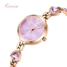 <b>Kimio Brand Women</b> Bracelet Watches <b>Luxury</b> Ladies Crystal Quartz ...