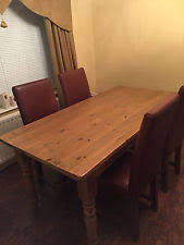 barker and stonehouse halo antique wooden table and four real leather chairs barker stonehouse furniture