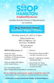 shop hamilton impact dinner tickets thu jan at pm business owners you are important to us