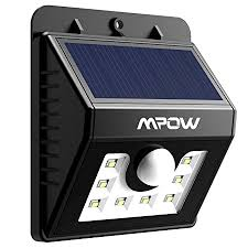 Mpow <b>Solar</b> Lights for Home , <b>8 LED</b> Super Bright Motion Sensor ...