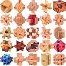 Classic <b>IQ Wooden Puzzle</b> Mind Brain Teasers Burr <b>Puzzles</b> Game ...