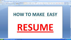 how to write a good resume l cv microsoft word