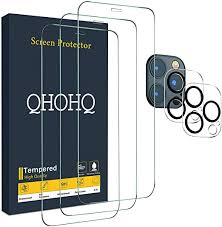 QHOHQ 3 Pack Screen Protector for iPhone 12 Pro ... - Amazon.com