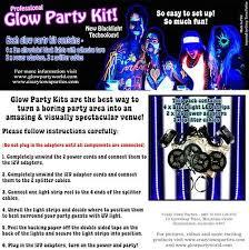 <b>Black Light UV</b> Glow Party Kits
