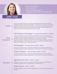 amazing resume templates to get noticed by recruiters purple modern cv sample