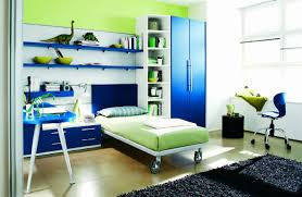 rooms green white blue childrens