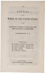 """reconstruction and the battle for w  suffrage   the gilder    """"an appeal to the women of the united states""""  washington dc"""
