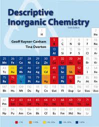 w h man publishers chemistry inorganic chemistry inorganic chemistry
