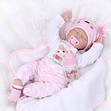 """Amazon.com: <b>OCSDOLL Reborn Baby Dolls</b> 22"""" <b>Cute</b> Realistic Soft ..."""
