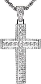 KRKC&CO Silver <b>Cross Necklace Pendant Necklace</b> 3 mm 56 cm ...