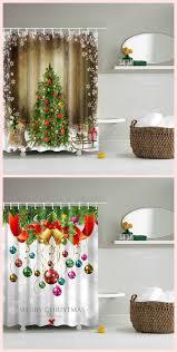 Bathroom <b>Waterproof</b> Merry <b>Christmas Printed</b> Shower Curtain ...