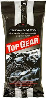 Купить <b>Салфетки влажные Top</b> Gear для ухода за интерьером ...