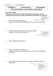 the battle of hastings essay why did william win the battle of hastings questions worksheet