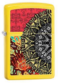 <b>Зажигалка Zippo</b> Boho pattern (28850) желтая