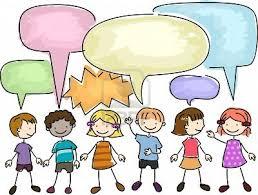 Resultado de imagen de imagenes de niños hablando en la escuela