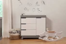 hudson changer dresser in grey and white babyletto furniture