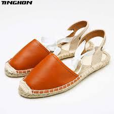<b>TINGHON Summer</b> Canvas <b>Women</b> Espadrilles Ankle Strap ...