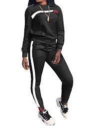 <b>Women</b> Tracksuit Set <b>2PCS Plus</b> Size Sports Jogging Suit Long ...
