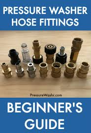 Pressure Washer Hose Fittings Beginner's Guide