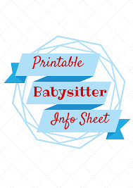 babysitting coupon template clipart best babysitter information printable