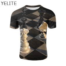 <b>YELITE</b> 2019 Newest Black and white Go down Sleeve <b>T Shirt</b> 3d ...
