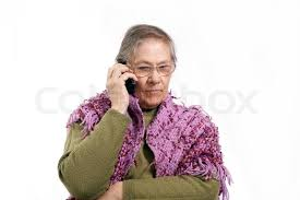 Image result for picture of older woman talking on cell phone
