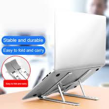 Besegad Foldable Adjustable Laptop Stand Support Bracket Holder ...