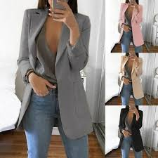 <b>2019</b> NEW Fashion <b>Women Casual</b> Slim Business Blazer Suit Coat ...