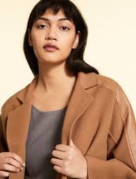 <b>Double</b>-<b>sided wool</b> coat , brown - Marina Rinaldi
