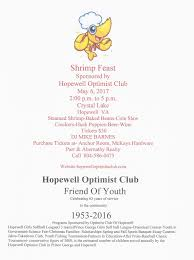 welcome to the optimist club of hopewell high school winter sports banquet