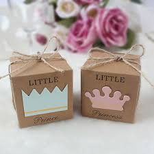 10/<b>50pcs Little Princess Prince</b> Candy Box Boy Girl Baby Shower ...
