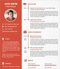 sample designer resume template      documents in pdf  psdweb designer resume template