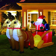 PhoenixReal 7.2ft <b>Christmas Inflatable</b> Outdoor <b>Decorations LED</b> ...