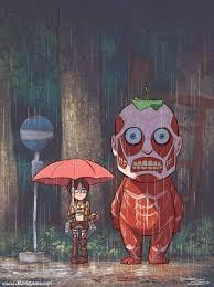 Mashup: <b>Attack on Totoro</b> | Seni anime, Seni, Referensi seni
