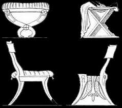 ancient greece furniture drawings from wwwzenoorg ancient greek furniture