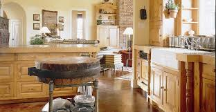 medium size concrete floor kitchen interior