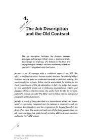 the job description and the old contract springer inside