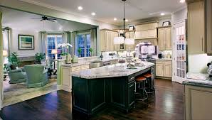 kitchen linear dazzling lights clear ceiling recessed: clayton linear chandelier above kitchen island toll brothers