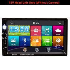 7 Inch Touch Screen 2Din Universal <b>12V 24V Car Truck</b> Bus Van In ...