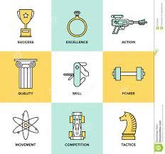 business improvement skills flat icons set stock vector image business development skills flat icons set stock photo