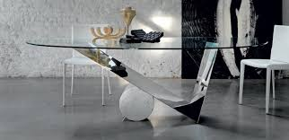 unique shaped glass office desk plus white chair including stone wall decor amazing glass office table